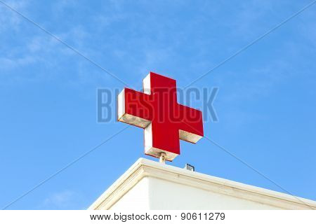 The German Red Cross Symbolizes A Hospital Or A Doctor