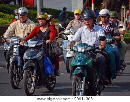 Motorcycle Madness In Saigon