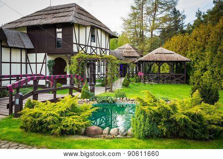 Traditional polish cottage house