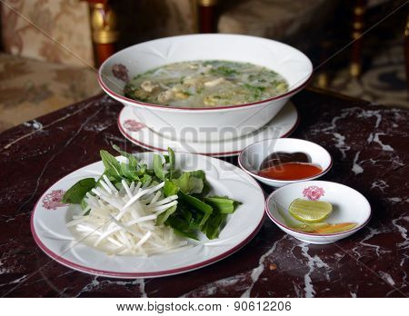 Chicken Noodle Soup In Vietnam -pho Ga