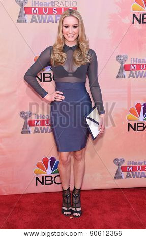 LOS ANGELES - MAR 29:  Greer Grammer arrives to the 2015 iHeartRadio Music Awards  on March 29, 2015 in Hollywood, CA