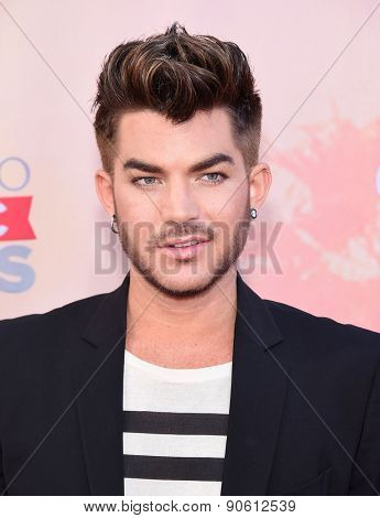 LOS ANGELES - MAR 29:  Adam Lambert arrives to the 2015 iHeartRadio Music Awards  on March 29, 2015 in Hollywood, CA