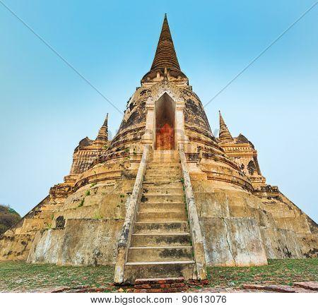 Three stupas in Wat Phra Si Sanphet. Ayutthaya historical park.