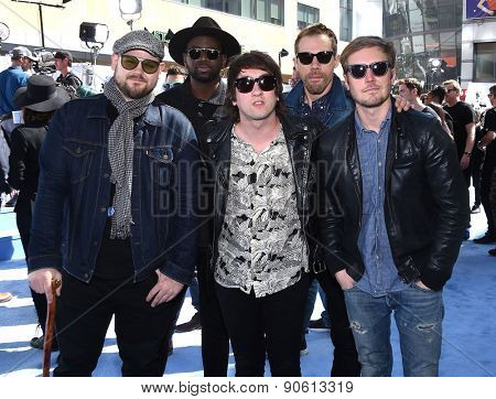 LOS ANGELES - APR 12:  Plain White T's arrives to the MTV Movie Awards 2015  on April 12, 2015 in Hollywood, CA