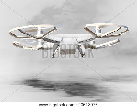 The Drone . New technology for war. Digital artwork fictional vehicle on UAV theme.