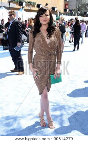 LOS ANGELES - APR 12:  Ashley Rickards arrives to the MTV Movie Awards 2015  on April 12, 2015 in Hollywood, CA