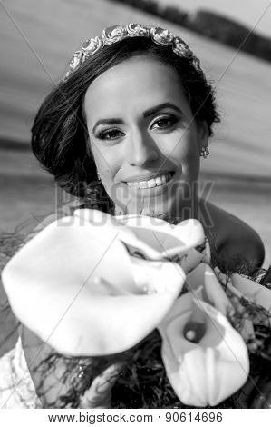 Young Beautiful Smiling Bride