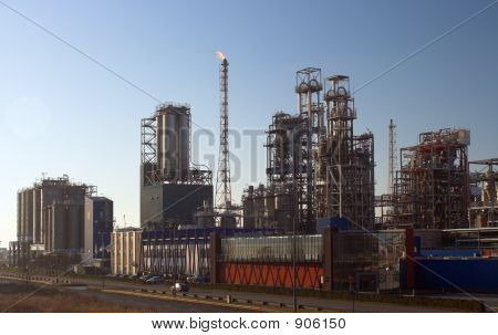 Oil Refinery Before Sunset