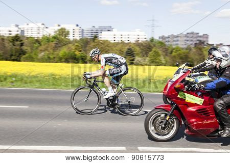 Jerome Pineau (14) Is On Top Of The At The 51St Bicycle Race Rund Um Den Finanzplatz Eschborn-frankf