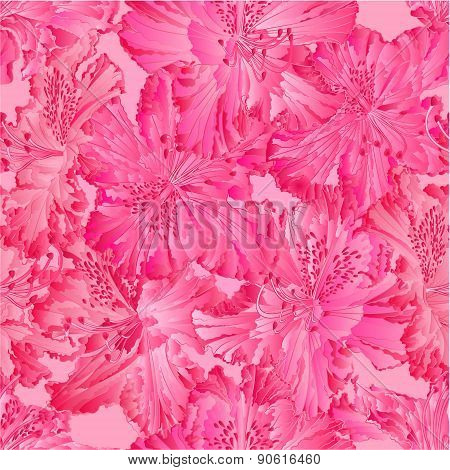 Seamless Texture  Rhododendron Vector