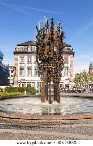 Carnival Fountain In Mainz