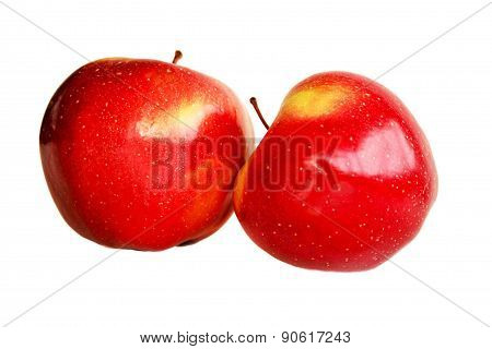 Red-yellow ripe apples.