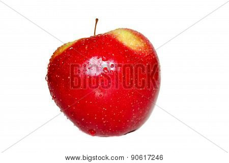 Red-yellow ripe Apple.