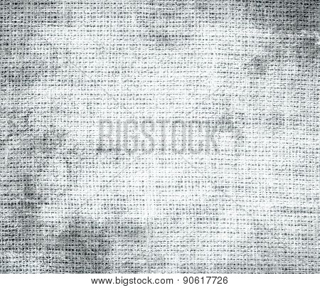 Grunge background of alice blue burlap texture