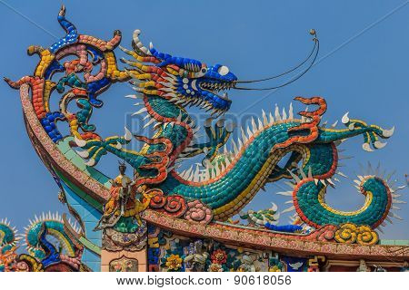 Dragon Temple Roof Decoration