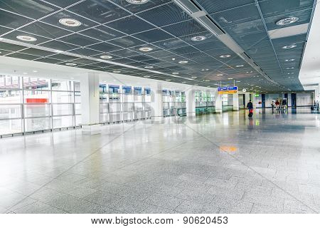 People On Their Way To The Gate At The Airport