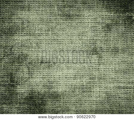 Grunge background of artichoke burlap texture