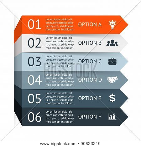 Vector infographic. Template for diagram, graph, presentation and chart. Business concept with 6 opt