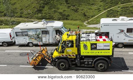 Technical Truck On The Road Of Le Tour De France 2014
