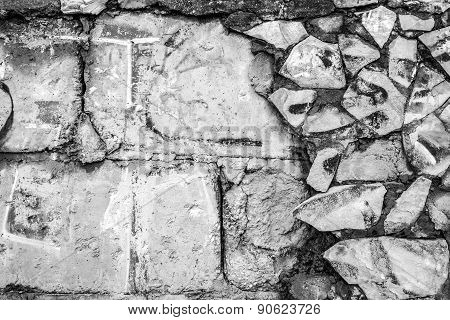 Old Concrete Wall And Tiling