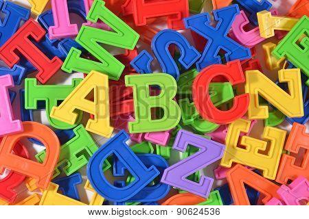 Plastic Colored Letters Abc
