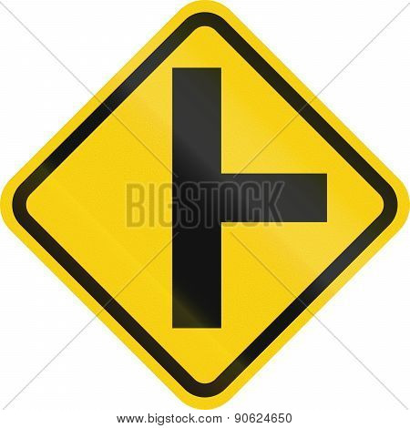 Intersection Ahead In Colombia