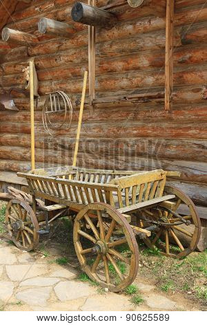 Old Cart Near The Wall