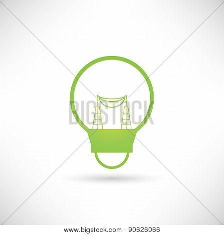 electricity pole inside light bulb