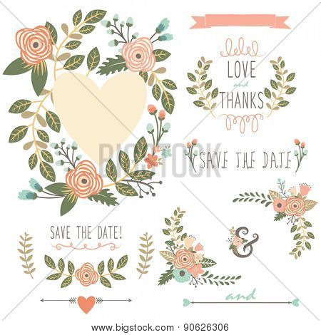 Floral Wreath Elements