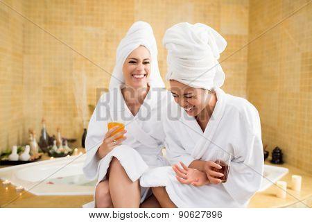 Women in spa center