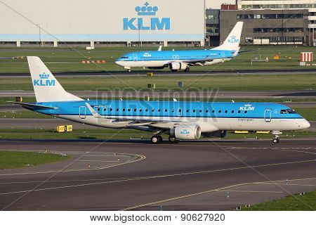 Klm Royal Dutch Airlines Airplanes Amsterdam Airport