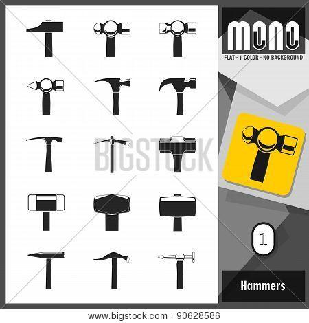 Mono Icons - Hammers 1