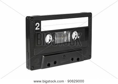 Black Vintage Audio Cassette Tape