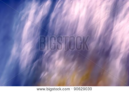 blurred background, blue, red, white
