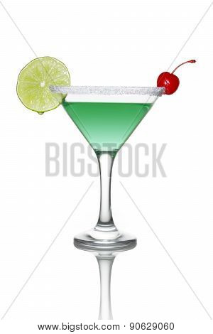 Green cocktail with lime
