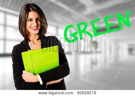professional business woman green economy