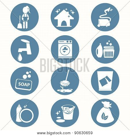 Cleaning Icon Set Vector Illustration