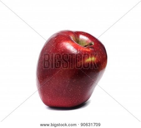 One Big Red Apple Isolated On A White Background