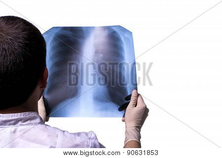 Doctor Looking X-ray