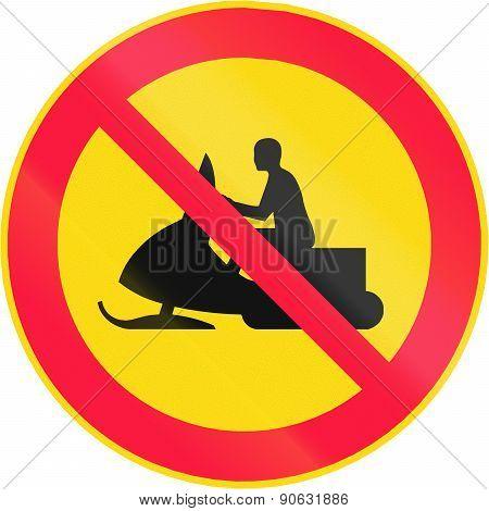 No Snowmobiles In Finland