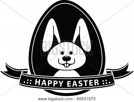 Easter Bunny or Happy Easter Poster - Illustration