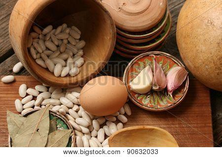Raw Food -rustic Scene