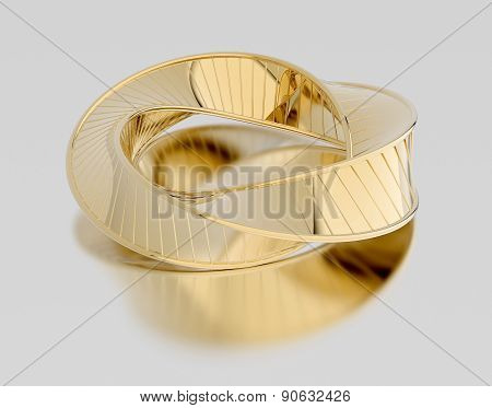 Golden Bracelet Isolated On White