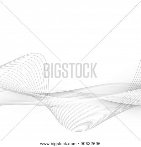 Halftone Grey Abstract Swoosh Line Modern Layout
