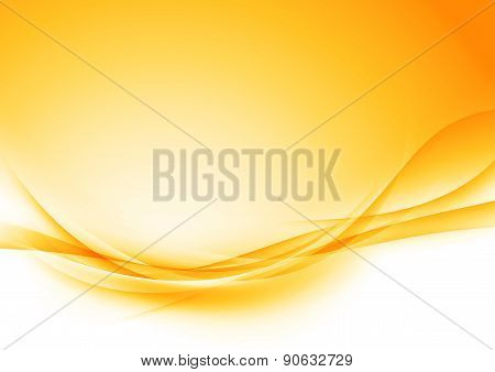 Bright Orange Swoosh Soft Shadow Wave Layout