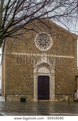Church Of Sant Agostino, Montalcino, Italy