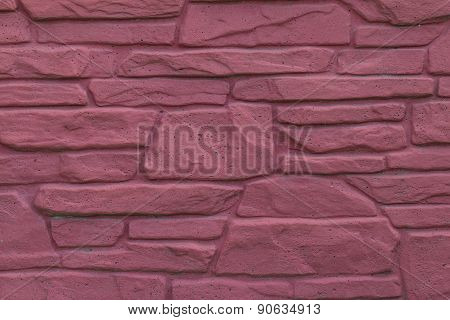 Masonry Wall Of Red Stone