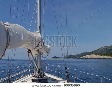 Sailing on the Adriatic sea of Croatia