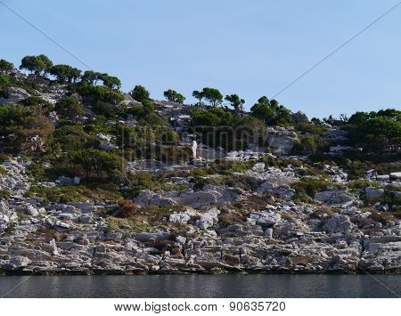 The bay of Polace  of the island Mljet