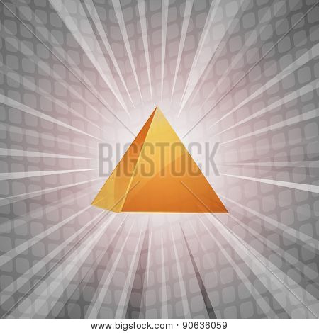 3D Golden Pyramid Background